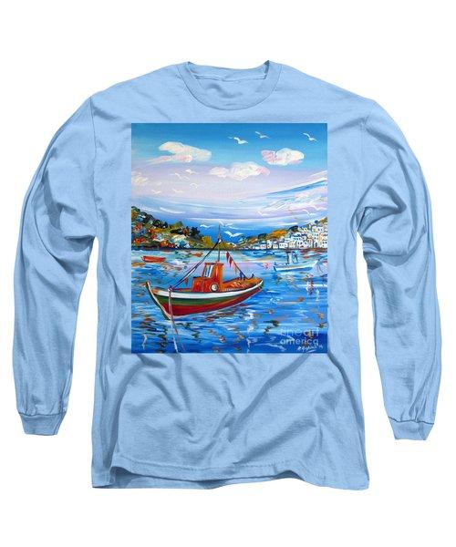 Little Fisherman Boat  Long Sleeve T-Shirt