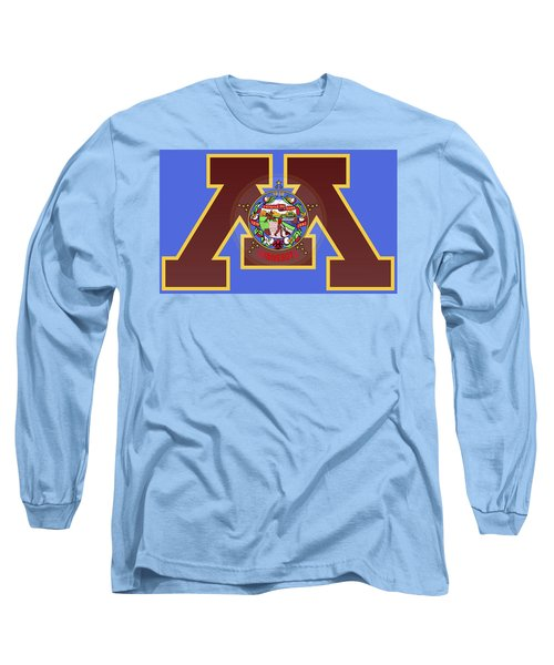 U Of M Minnesota State Flag Long Sleeve T-Shirt