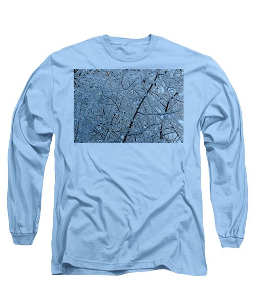 Vegetation After Ice Storm  Long Sleeve T-Shirt by Daniel Reed