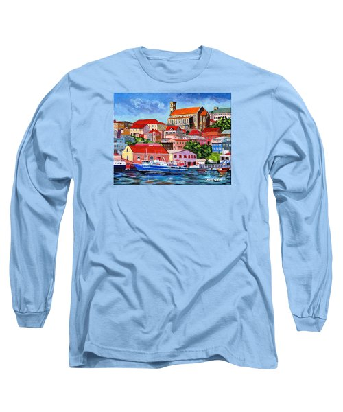 A View Of The Carenage Long Sleeve T-Shirt