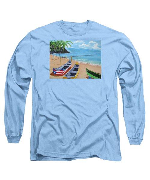 Aguadilla Crashboat Beach Long Sleeve T-Shirt by Luis F Rodriguez