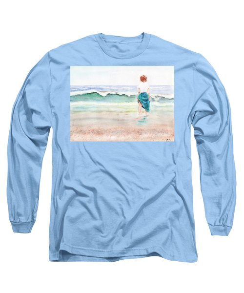 At The Beach Long Sleeve T-Shirt by C Sitton