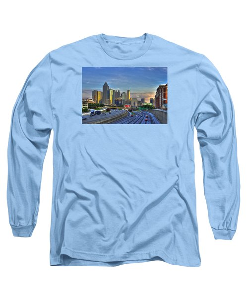 Atlanta Sunset Reflections Long Sleeve T-Shirt by Reid Callaway