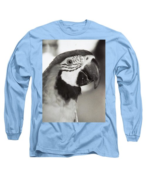 Long Sleeve T-Shirt featuring the photograph Black And White Parrot Beauty by Belinda Lee