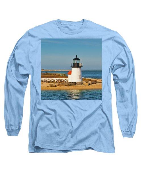 Brant Point Lighthouse Nantucket Long Sleeve T-Shirt