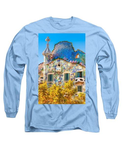 Casa Batllo - Barcelona Long Sleeve T-Shirt by Luciano Mortula