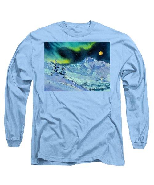 Denali Night Long Sleeve T-Shirt by Teresa Ascone