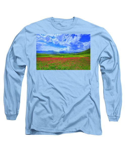Fields Of Dreams Long Sleeve T-Shirt by Midori Chan