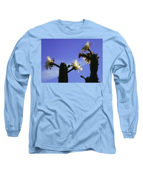 Flowering Cactus 4 Long Sleeve T-Shirt by Mariusz Kula