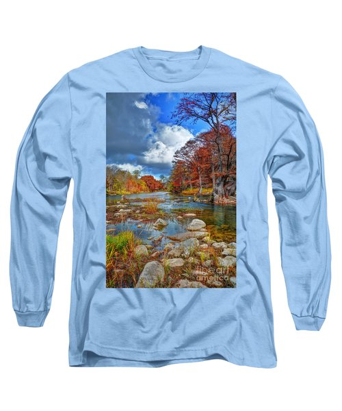 Guadalupe In The Fall Long Sleeve T-Shirt by Savannah Gibbs