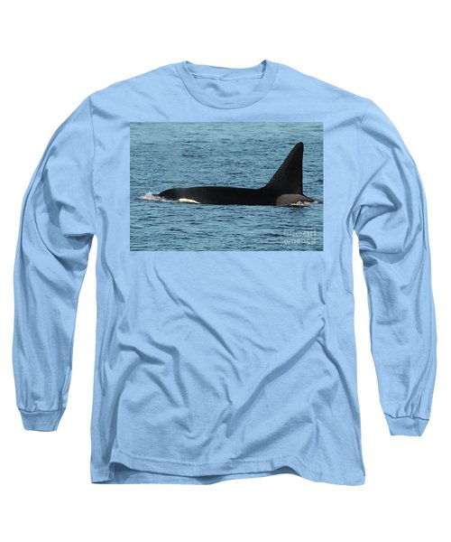 Long Sleeve T-Shirt featuring the photograph Male Orca Killer Whale In Monterey Bay California 2013 by California Views Mr Pat Hathaway Archives