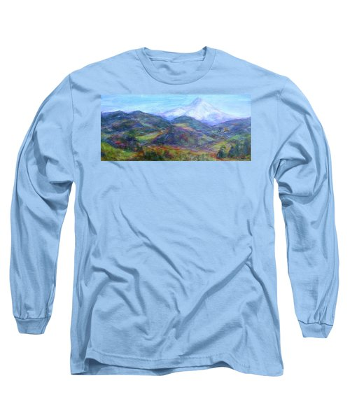 Mountain Patchwork Long Sleeve T-Shirt by Quin Sweetman