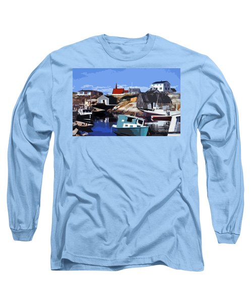 Peggy's Cove Long Sleeve T-Shirt by Lydia Holly