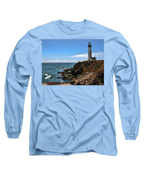 Pigeon Point Lighthouse Long Sleeve T-Shirt by Judy Vincent