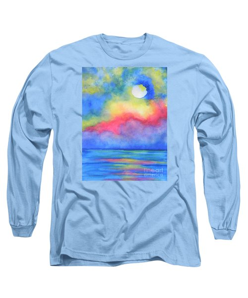 Long Sleeve T-Shirt featuring the painting Power Of Nature  by Chrisann Ellis