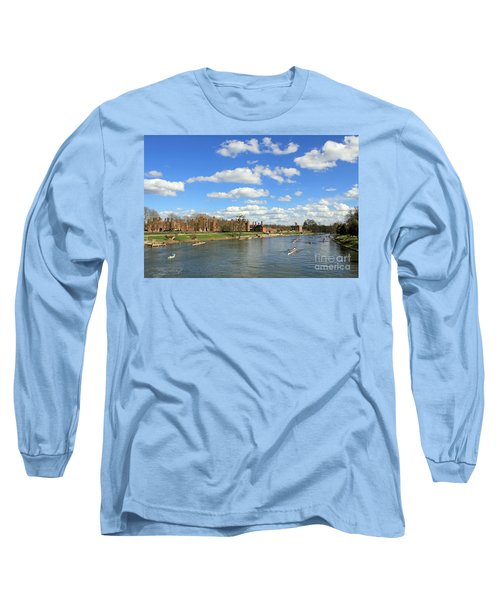 Rowing On The Thames At Hampton Court Long Sleeve T-Shirt