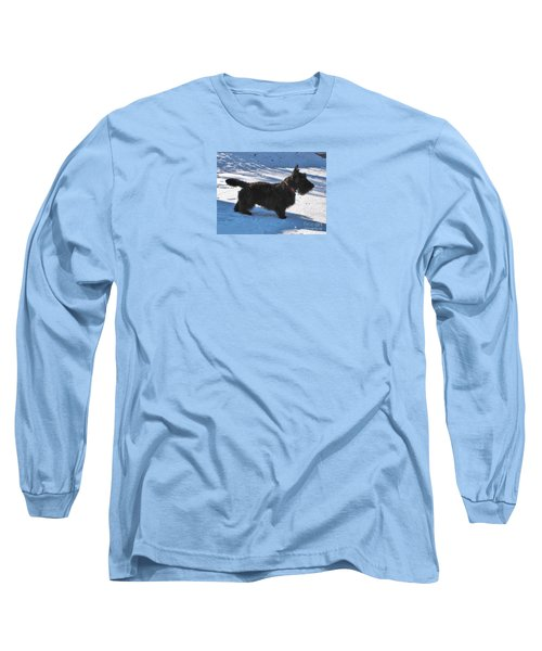 Long Sleeve T-Shirt featuring the photograph Scottie Silhouette by Michele Penner