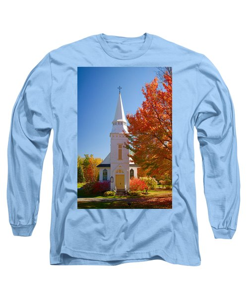 St Matthew's In Autumn Splendor Long Sleeve T-Shirt by Jeff Folger