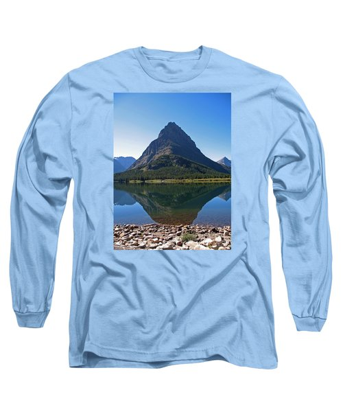 Long Sleeve T-Shirt featuring the photograph Swiftcurrent  Lake Many Glacier by Joseph J Stevens