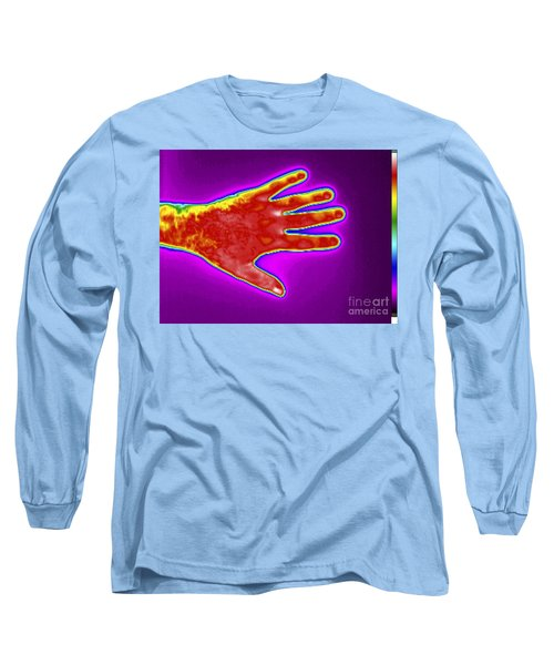 Thermogram Of A Mans Hand Long Sleeve T-Shirt