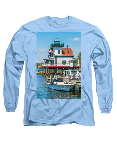 Town Of Edenton Roanoke River Lighthouse In Nc Long Sleeve T-Shirt
