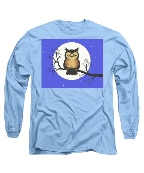 Whooo You Lookin' At Long Sleeve T-Shirt by Sophia Schmierer