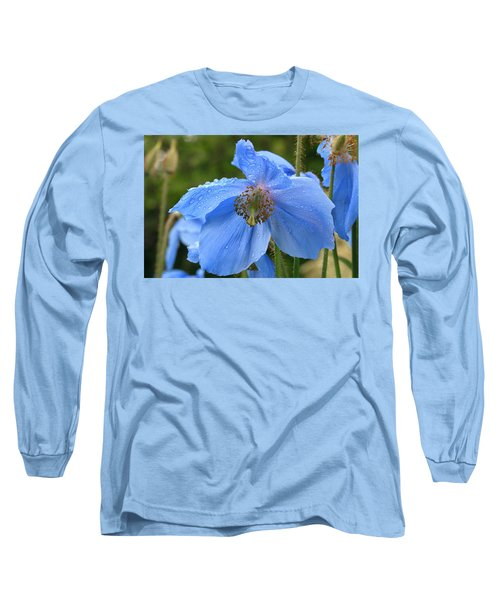 Wild Blue Poppy Long Sleeve T-Shirt