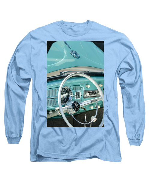 1962 Volkswagen Vw Beetle Cabriolet Steering Wheel Long Sleeve T-Shirt