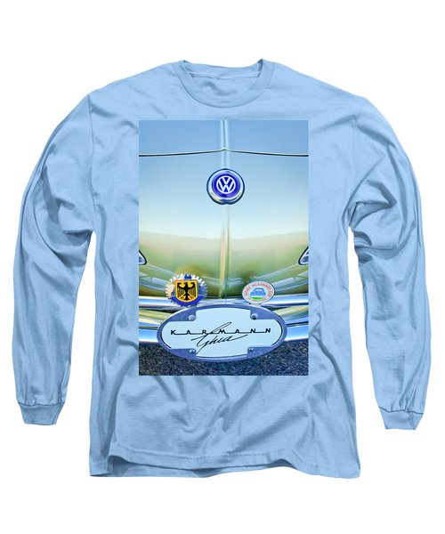 1967 Volkswagen Vw Karmann Ghia Hood Emblem Long Sleeve T-Shirt