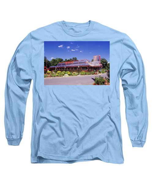 1990s Classic Art Deco Style Diner Hyde Long Sleeve T-Shirt
