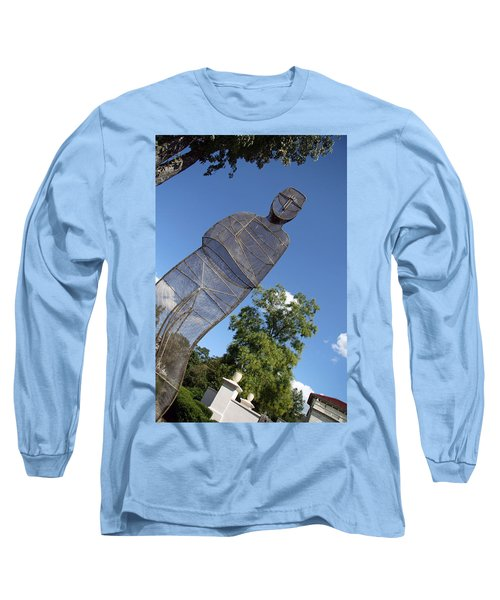 Long Sleeve T-Shirt featuring the photograph Minujin's A Man Of Mesh by Cora Wandel