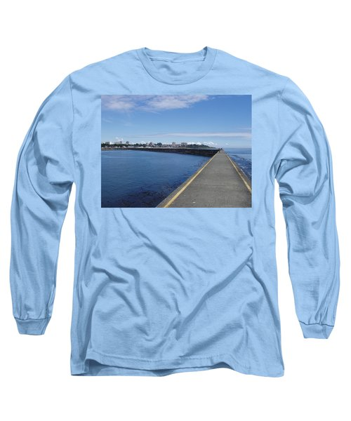 Long Sleeve T-Shirt featuring the photograph Along The Breakwater by Marilyn Wilson