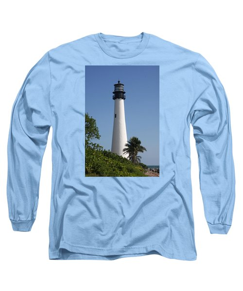 Long Sleeve T-Shirt featuring the photograph Ligthouse - Key Biscayne by Christiane Schulze Art And Photography
