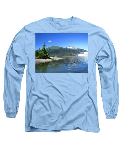 Mendenhall Glacier Long Sleeve T-Shirt by Jennifer Wheatley Wolf