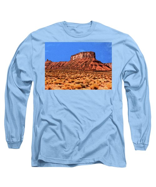 Long Sleeve T-Shirt featuring the painting National Navajo Tribal Park by Bob and Nadine Johnston
