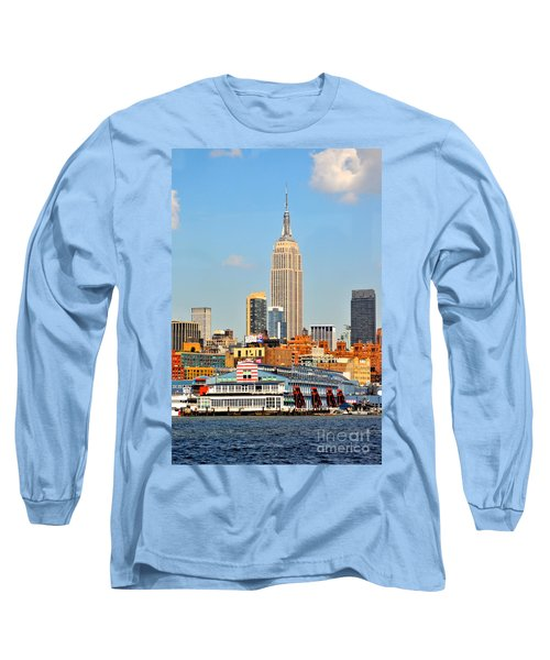 New York City Skyline With Empire State Long Sleeve T-Shirt