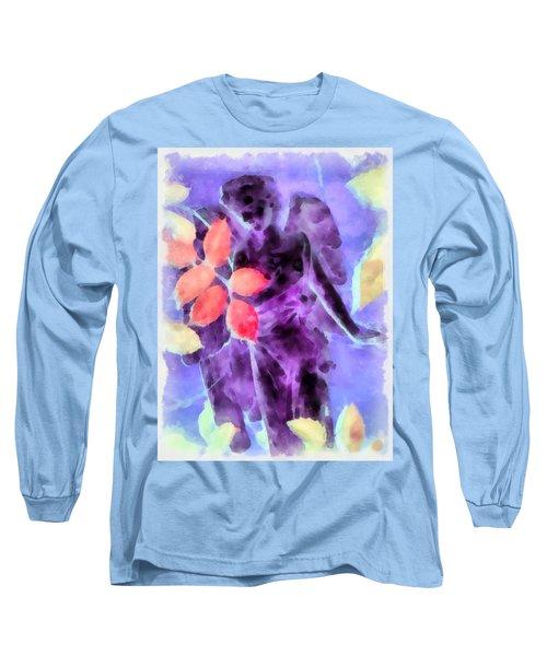 Send Me An Angel 3 Long Sleeve T-Shirt by Angelina Vick