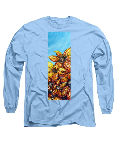 Long Sleeve T-Shirt featuring the painting Sunrise by Meaghan Troup