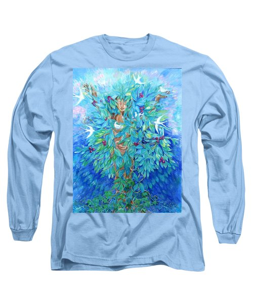 Long Sleeve T-Shirt featuring the painting Tree Of Life  by Trudi Doyle