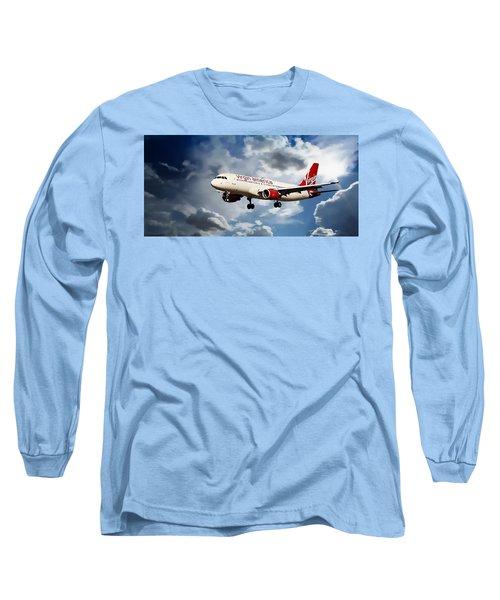 Virgin America Mach Daddy  Long Sleeve T-Shirt by Aaron Berg