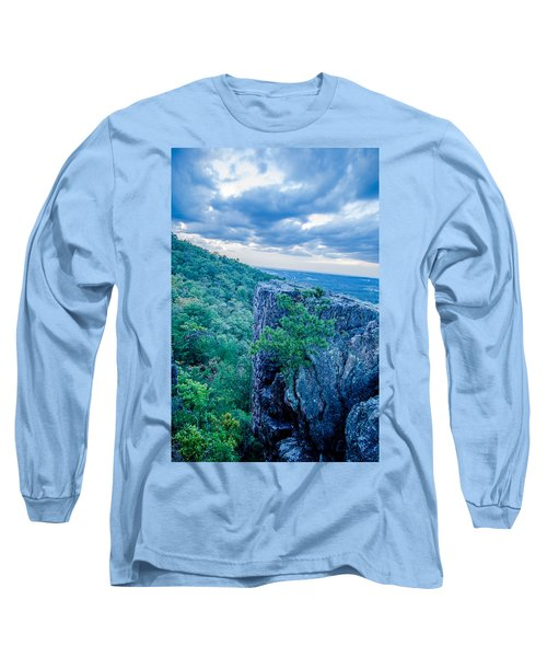 Long Sleeve T-Shirt featuring the photograph Beautiful Aerial Landscape Views From Crowders Mountain Near Gas by Alex Grichenko