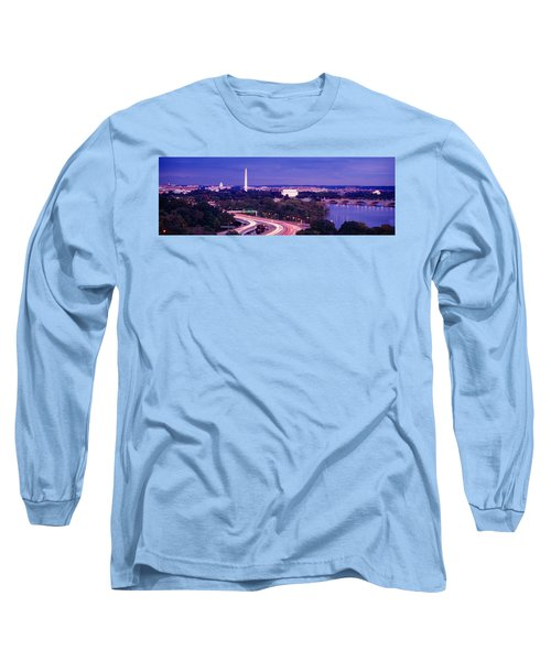 High Angle View Of A Cityscape Long Sleeve T-Shirt by Panoramic Images