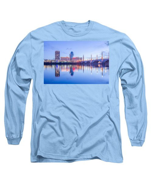 Springfield Massachusetts City Skyline Early Morning Long Sleeve T-Shirt