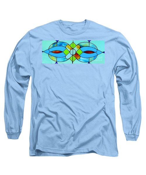 Long Sleeve T-Shirt featuring the photograph Stained Glass Window by Janette Boyd