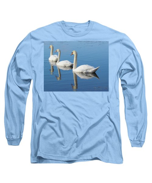 3 Swans A-swimming Long Sleeve T-Shirt