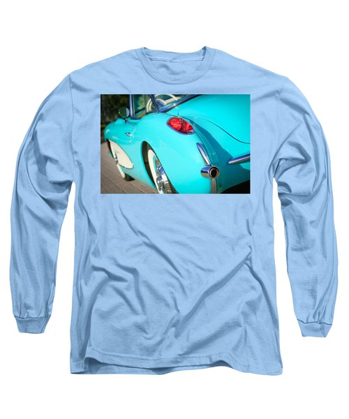 Long Sleeve T-Shirt featuring the photograph 1957 Chevrolet Corvette Taillight by Jill Reger