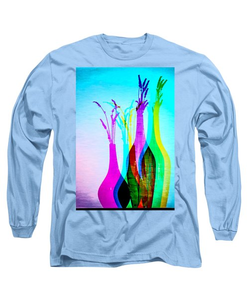 4 Vases In Colored Light Silhouettes Long Sleeve T-Shirt