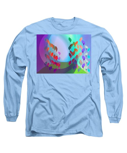 510 - Pastel Flowers ... Long Sleeve T-Shirt