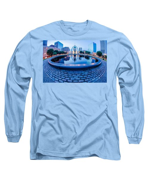 St. Louis Downtown Skyline Buildings At Night Long Sleeve T-Shirt