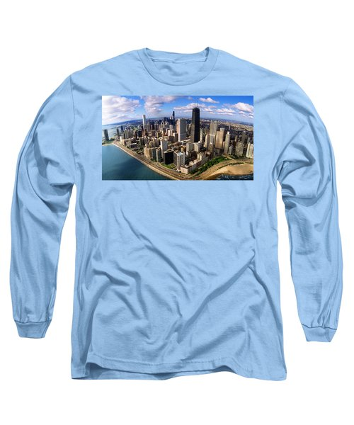 Chicago Il Long Sleeve T-Shirt by Panoramic Images